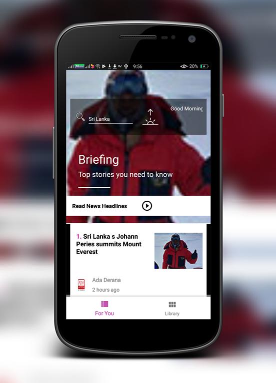 """Sri Lankan news in """"Volusha"""" app"""
