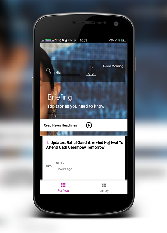 "Indian News in ""Volusha"" app"